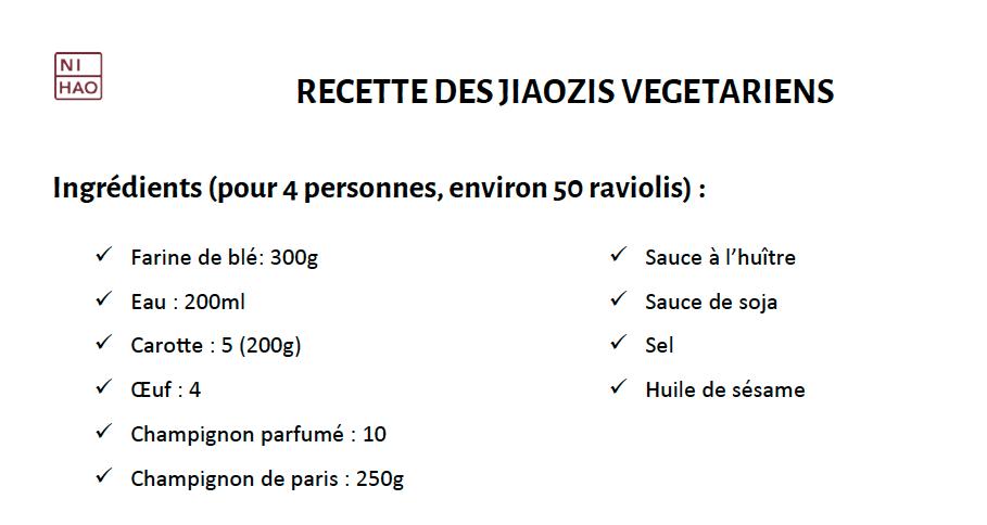 Fiche recette : les raviolis chinois